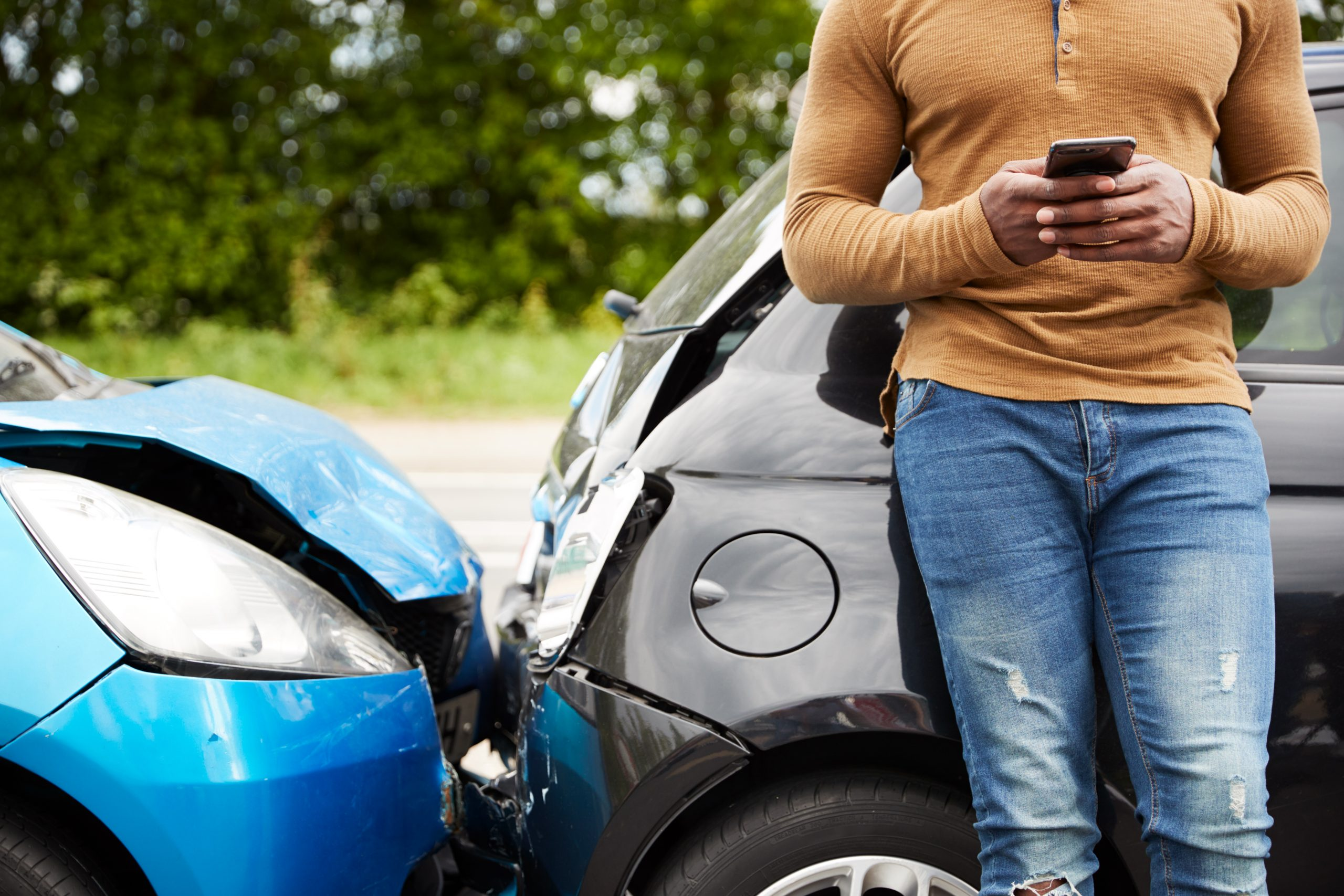 male motorist injured in liability defective car auto collision